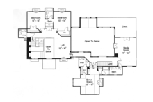 Mediterranean Floor Plan - Upper Floor Plan Plan #417-796