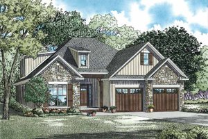House Design - Country Exterior - Front Elevation Plan #17-3357