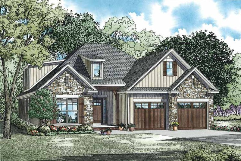 Dream House Plan - Country Exterior - Front Elevation Plan #17-3357