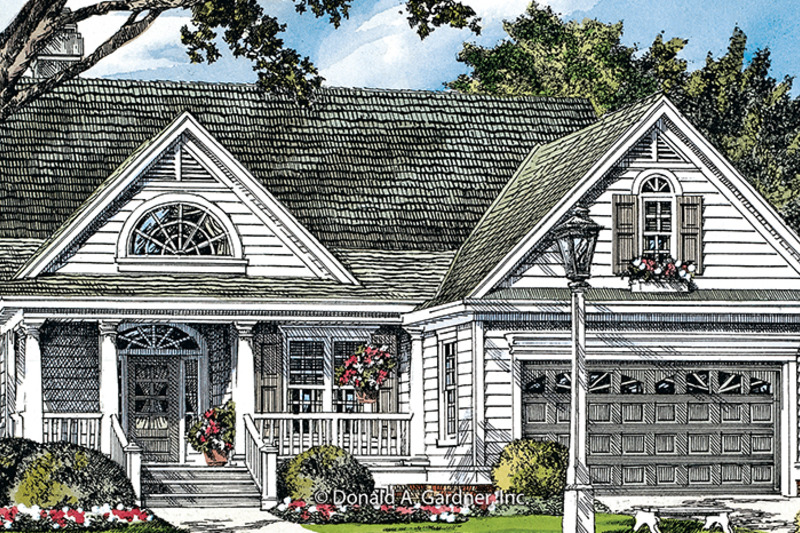 Ranch Exterior - Front Elevation Plan #929-991 - Houseplans.com