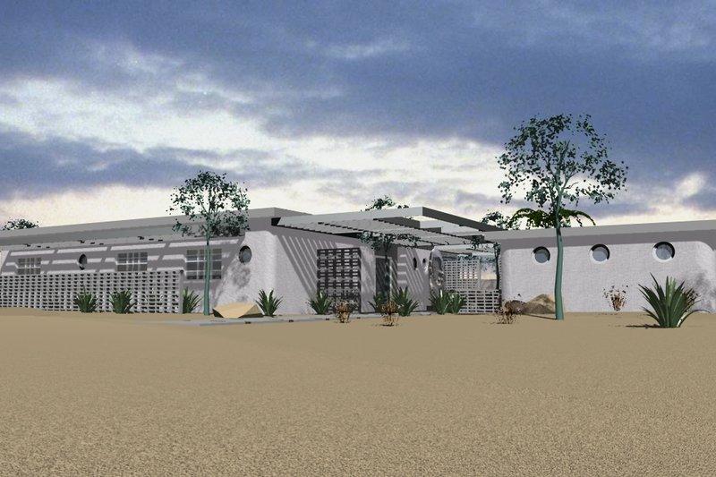 Dream House Plan - Modern Exterior - Front Elevation Plan #535-9