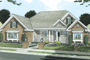 Traditional Exterior - Front Elevation Plan #513-2045