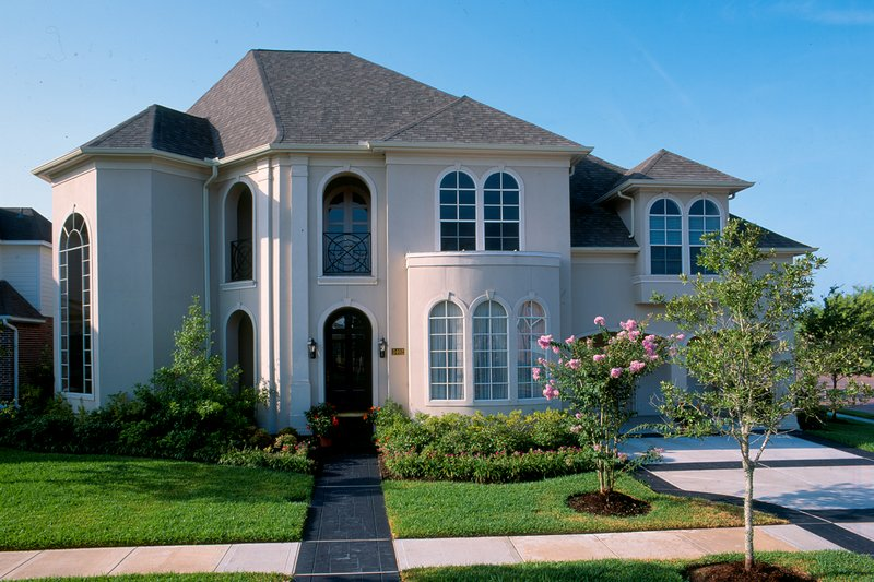 Architectural House Design - European Exterior - Front Elevation Plan #20-1165