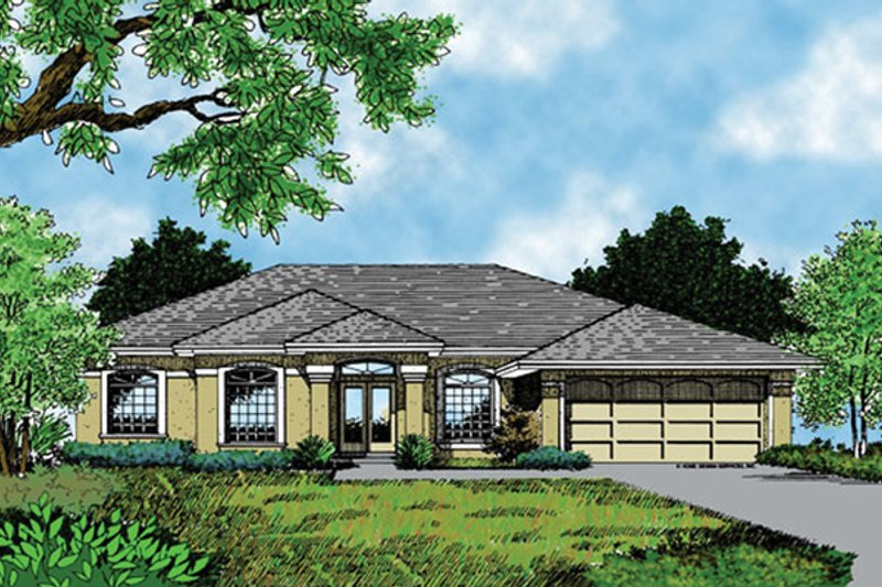 Mediterranean Exterior - Front Elevation Plan #417-697