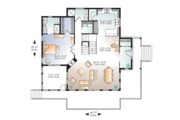 European Style House Plan - 4 Beds 3 Baths 2340 Sq/Ft Plan #23-2627 Floor Plan - Main Floor Plan