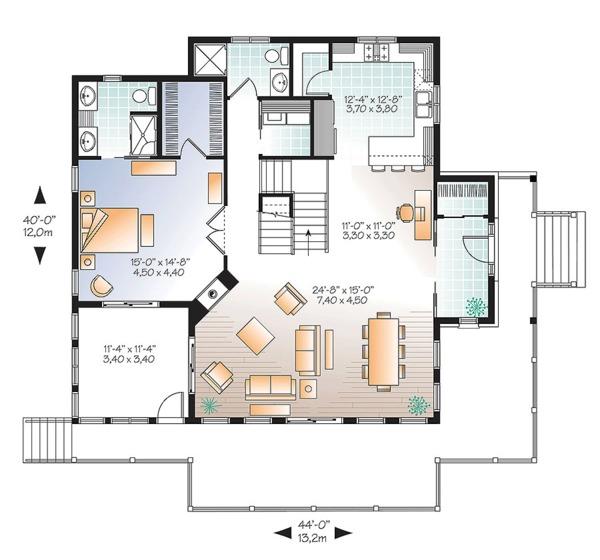 Home Plan - European Floor Plan - Main Floor Plan #23-2627