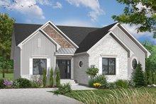 Cottage Exterior - Front Elevation Plan #23-634
