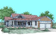 Country Style House Plan - 3 Beds 2 Baths 2125 Sq/Ft Plan #60-248 Exterior - Front Elevation