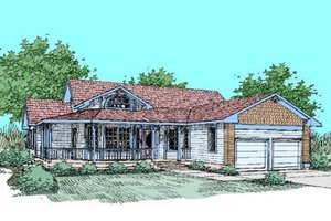 Country Exterior - Front Elevation Plan #60-248