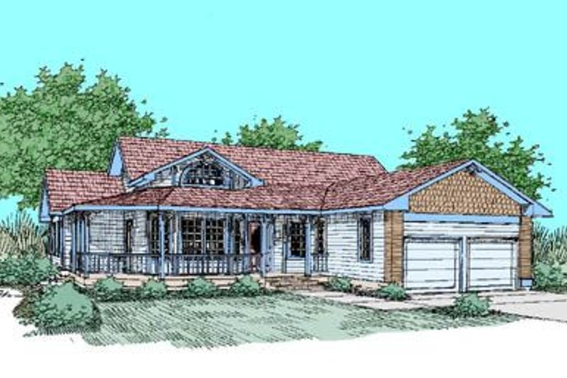 Country Exterior - Front Elevation Plan #60-248 - Houseplans.com
