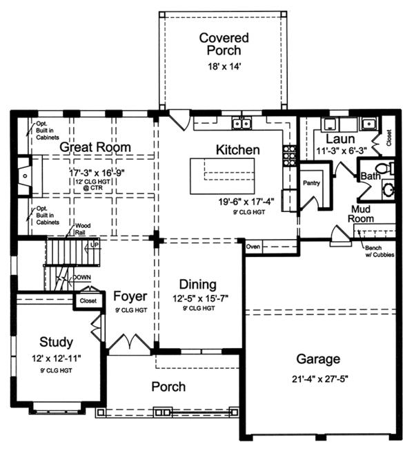 Country Floor Plan - Main Floor Plan Plan #46-862