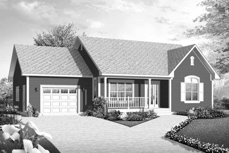 Country Exterior - Front Elevation Plan #23-2433