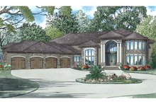 European Exterior - Front Elevation Plan #17-3401