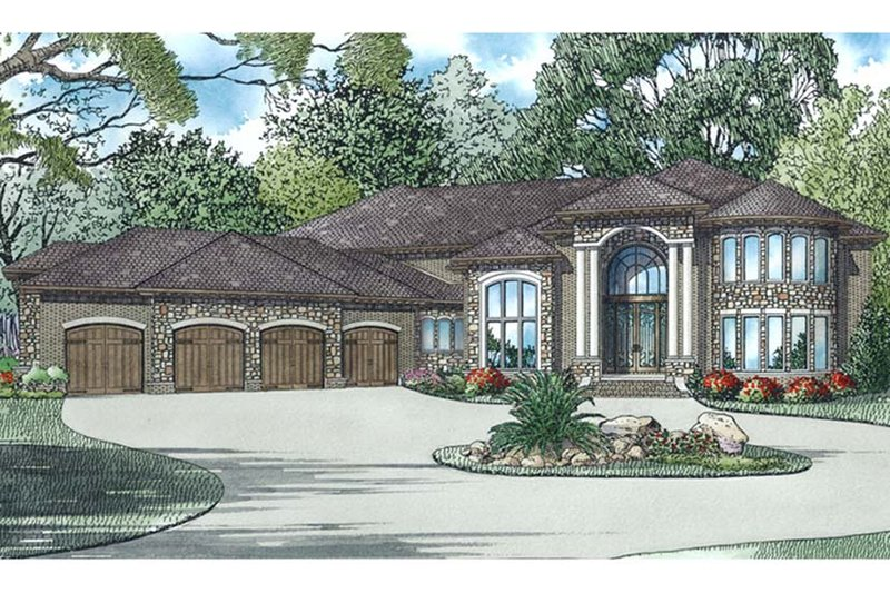Dream House Plan - European Exterior - Front Elevation Plan #17-3401