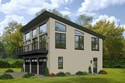 Contemporary Style House Plan - 1 Beds 1.5 Baths 1190 Sq/Ft Plan #932-113 Exterior - Front Elevation