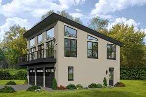 Architectural House Design - Contemporary Exterior - Front Elevation Plan #932-113