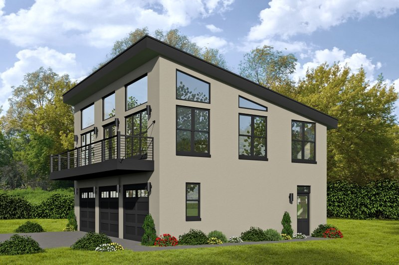 Home Plan - Contemporary Exterior - Front Elevation Plan #932-113