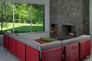 Contemporary Style House Plan - 4 Beds 4.5 Baths 4833 Sq/Ft Plan #928-255 Interior - Family Room