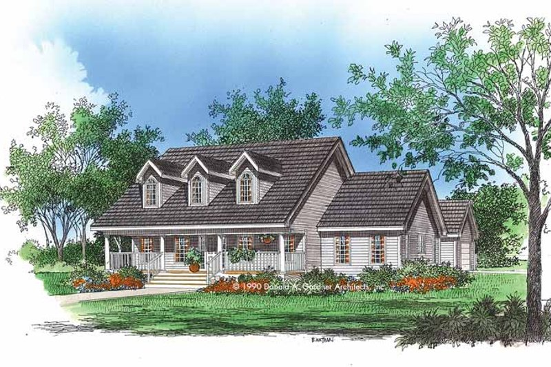 Home Plan - Country Exterior - Front Elevation Plan #929-71