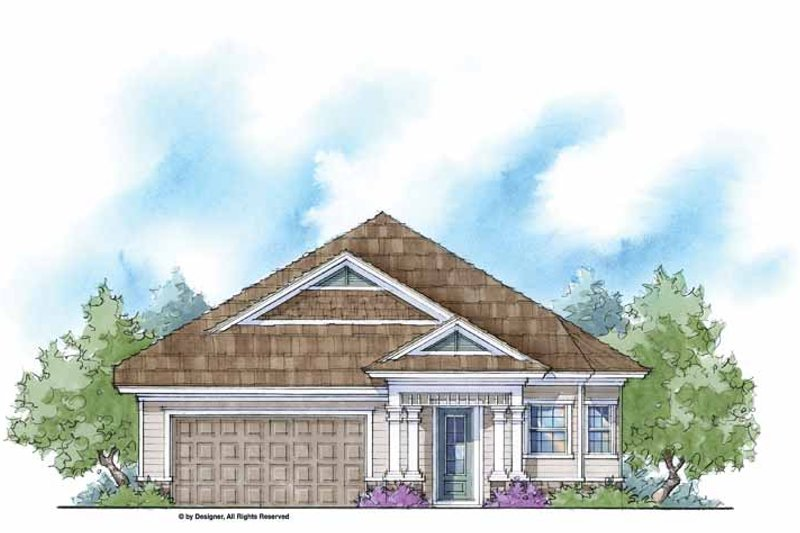 Country Style House Plan - 3 Beds 2 Baths 1585 Sq/Ft Plan #938-10 Exterior - Front Elevation