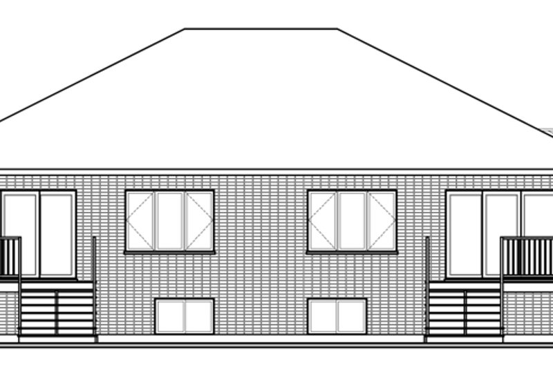 Contemporary Exterior - Rear Elevation Plan #23-2597 - Houseplans.com
