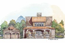 Architectural House Design - Craftsman Exterior - Front Elevation Plan #429-427