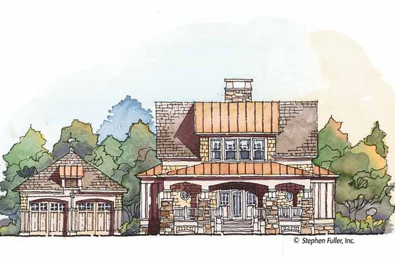 Craftsman Exterior - Front Elevation Plan #429-427