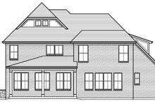 House Plan Design - European Exterior - Rear Elevation Plan #46-857