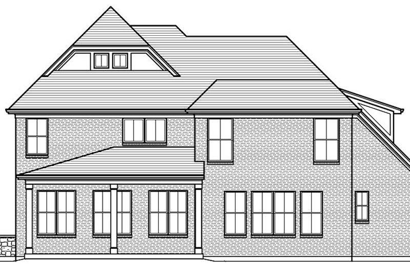 European Exterior - Rear Elevation Plan #46-857 - Houseplans.com