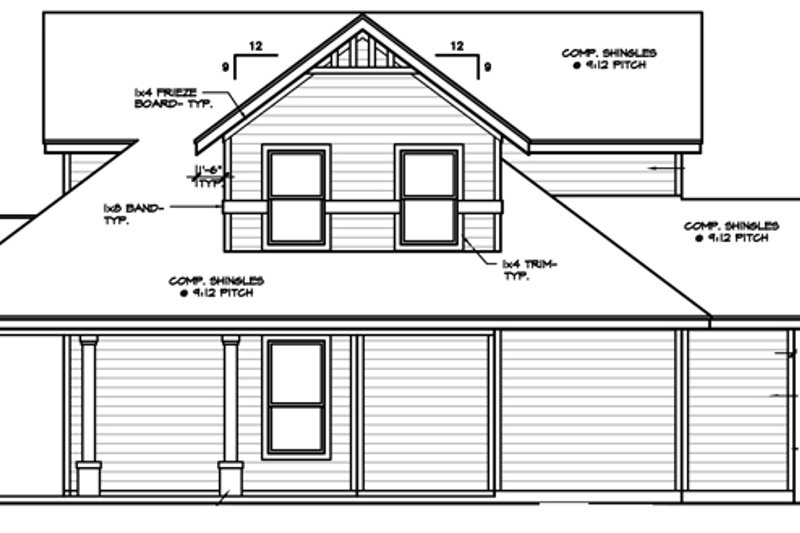 Country Exterior - Other Elevation Plan #472-396 - Houseplans.com