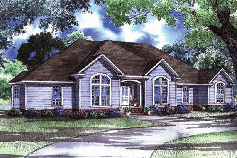 House Plan Design - European Exterior - Front Elevation Plan #17-3038