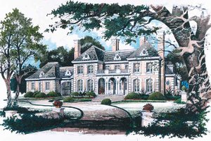 Classical Exterior - Front Elevation Plan #429-145