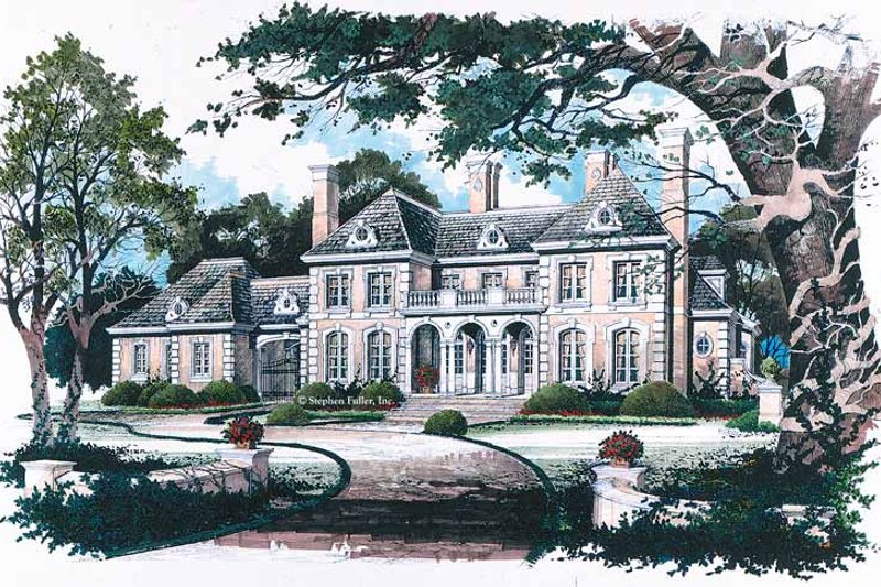 Dream House Plan - Classical Exterior - Front Elevation Plan #429-145