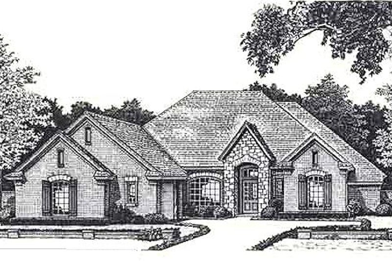 European Style House Plan - 3 Beds 2.5 Baths 2473 Sq/Ft Plan #310-821 Exterior - Front Elevation