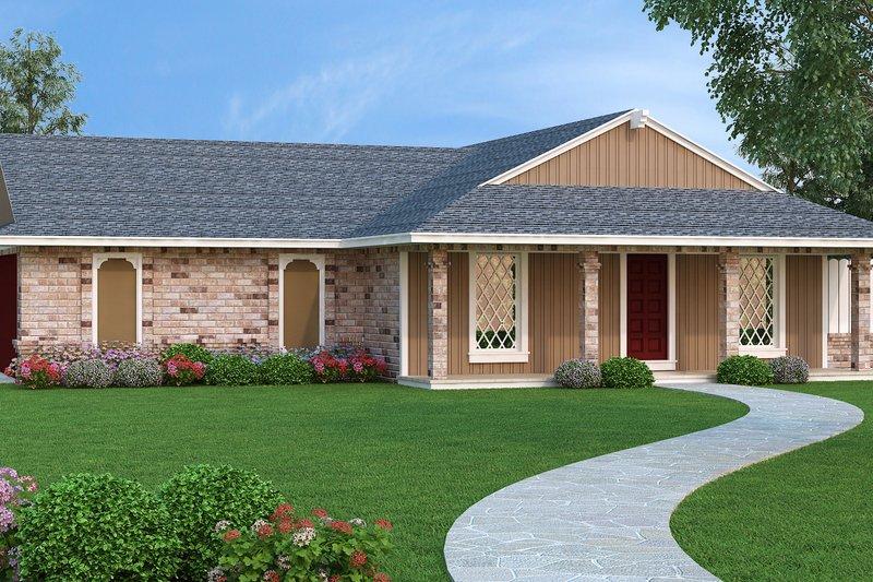 Ranch Exterior - Front Elevation Plan #45-558 - Houseplans.com