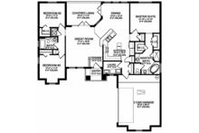 Mediterranean Floor Plan - Main Floor Plan Plan #1058-113