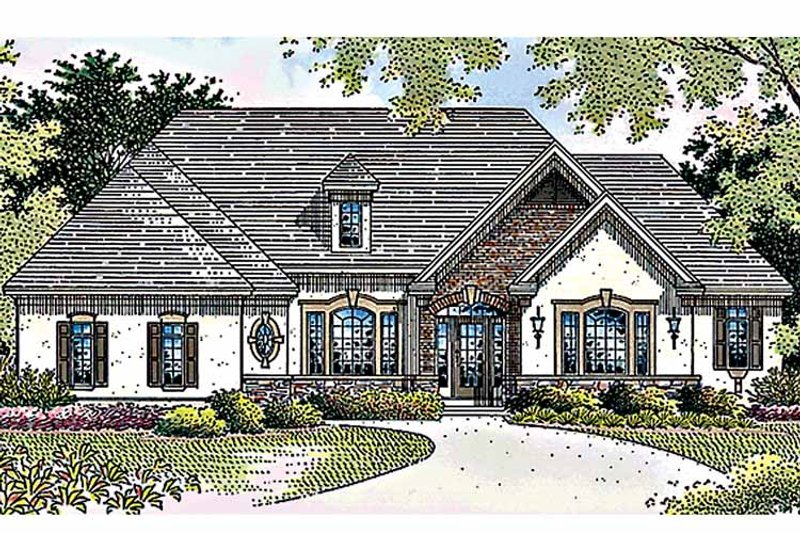 Country Exterior - Front Elevation Plan #51-903 - Houseplans.com