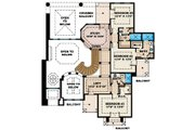 Mediterranean Style House Plan - 5 Beds 5 Baths 4428 Sq/Ft Plan #27-428 Floor Plan - Upper Floor Plan