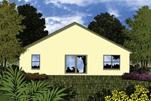 House Plan Design - Mediterranean Exterior - Rear Elevation Plan #417-846