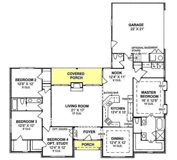 Home Plan Design - Traditional house plan style, floorplan