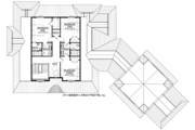 Country Style House Plan - 4 Beds 3.5 Baths 3829 Sq/Ft Plan #928-294 Floor Plan - Upper Floor Plan