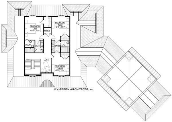 Country Floor Plan - Upper Floor Plan #928-294