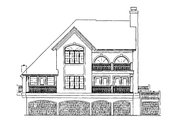 Mediterranean Style House Plan - 3 Beds 2 Baths 1853 Sq/Ft Plan #930-155 Exterior - Rear Elevation
