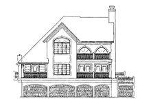 House Plan Design - Mediterranean Exterior - Rear Elevation Plan #930-155