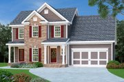 Colonial Style House Plan - 3 Beds 2.5 Baths 1582 Sq/Ft Plan #419-186