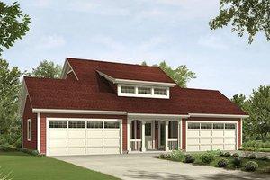 Craftsman Exterior - Front Elevation Plan #57-395