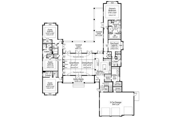 Farmhouse Floor Plan - Main Floor Plan #938-105