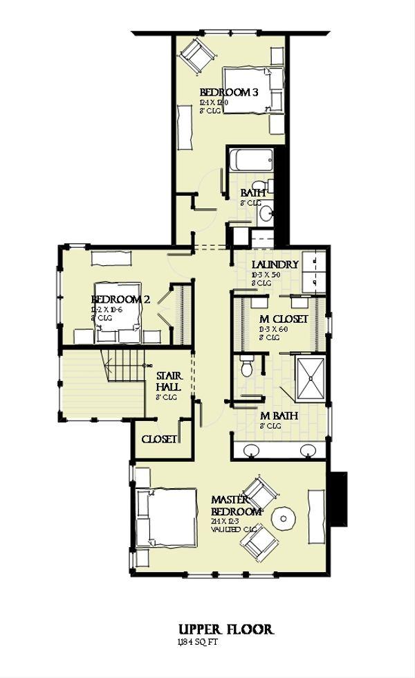 Beach Floor Plan - Upper Floor Plan Plan #901-131