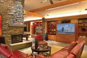 Ranch Style House Plan - 5 Beds 5.5 Baths 5884 Sq/Ft Plan #48-433 Interior - Family Room