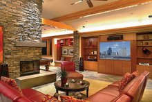 Architectural House Design - Ranch Interior - Family Room Plan #48-433